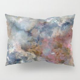 Colorful watercolor nebula onyx Pillow Sham