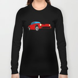 Red Sports Car Illustration Long Sleeve T-shirt