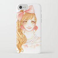 girly iPhone & iPod Cases featuring Girly by ilovevanilla
