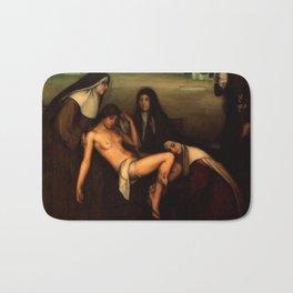 1915 Classical Masterpiece 'The Grace' by Julio Romero de Torres Bath Mat