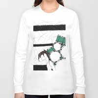 drum Long Sleeve T-shirts featuring Drum Man by Meagan Harman
