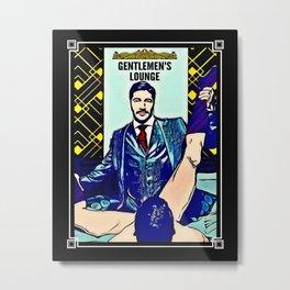 Gentlemen's Lounge Metal Print