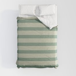 Nature Green Stripe Comforters