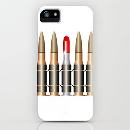 Bullet Belt With Lipstick iPhone Case