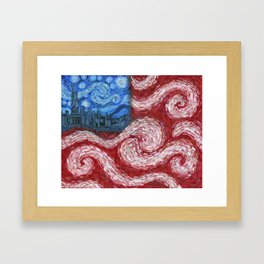 American Flag No. 2 (Starry American Night) Framed Art Print