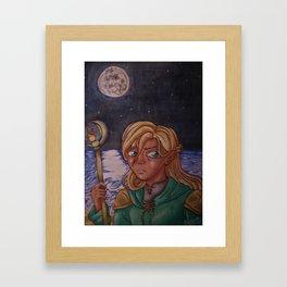 Moon Mage Framed Art Print
