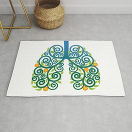 Healthy lung Rug