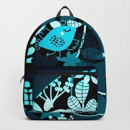 Afro Diva Teal Turquoise Aqua Backpack