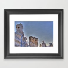 Casa Milà rooftop, Barcelona, Spain Framed Art Print