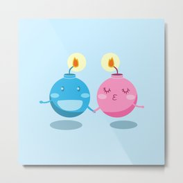 Our love is the bomb Metal Print