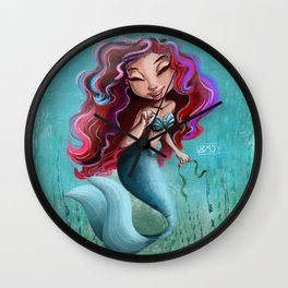 Under The Sea: Mermaid Life Wall Clock