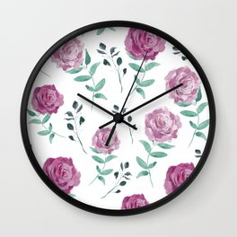 Romantic Florals [daily 18.3.2018. 1/60] Wall Clock