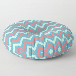 Tricolor Chevron 3 - more colors Floor Pillow