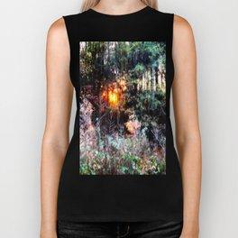 Sunset Forest : Where The Fairies Dwell Biker Tank