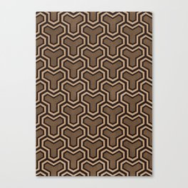 Brown Ys (70's Style) Canvas Print