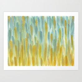 Blue and Gold; Rain Art Print