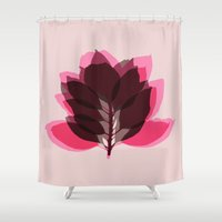 decal Shower Curtains featuring Blossom Pink by Garima Dhawan