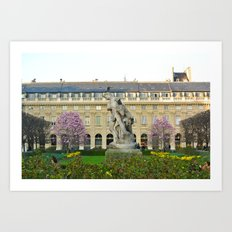 Spring at Palais-Royal Art Print