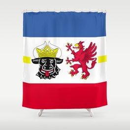 Flag of Mecklenburg-Vorpommern (Mecklenburg-West Pomerania) Shower Curtain