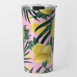 Summer Lemon Twist Jungle #6 #tropical #decor #art #society6 Travel Mug