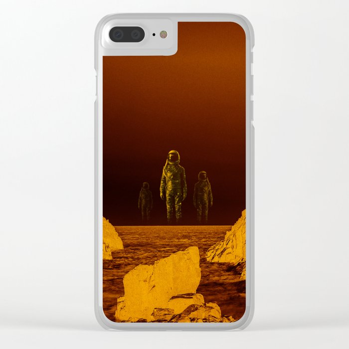 Escape from red planet Clear iPhone Case