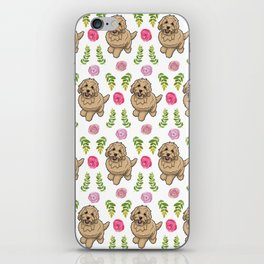 Flower Goldendoodle iPhone Skin