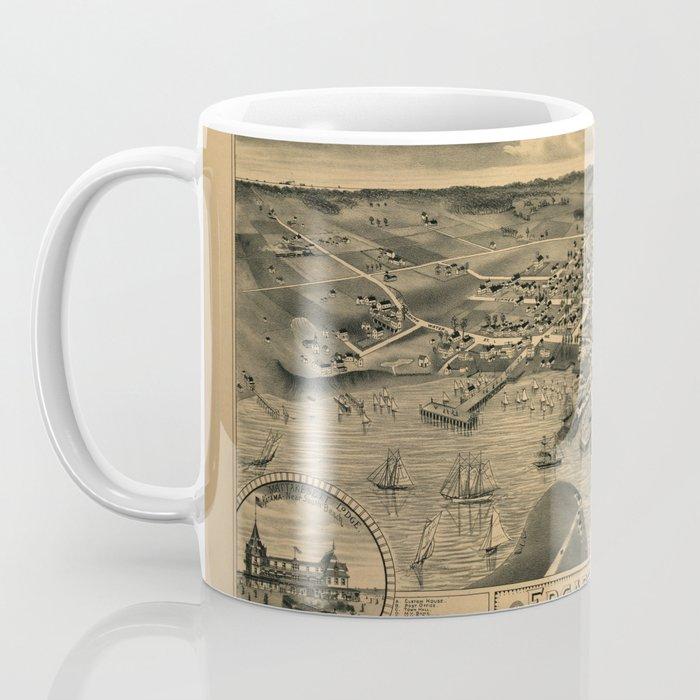 Map Of Marthas Vineyard 1886 Coffee Mug
