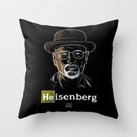 heisenberg Throw Pillows featuring Heisenberg by Caroline Fogaça