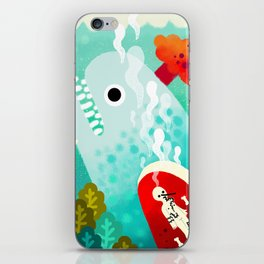 Whale and Pinocchio iPhone Skin