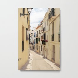streets of sitges Metal Print