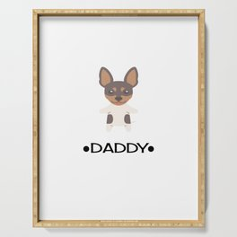 Toy Fox Terrier Daddy Serving Tray