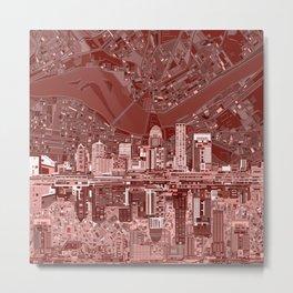 louisville city skyline red Metal Print