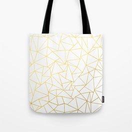 Ab Outline White Gold Tote Bag