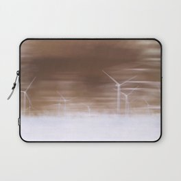 Ghostly wind turbines Laptop Sleeve