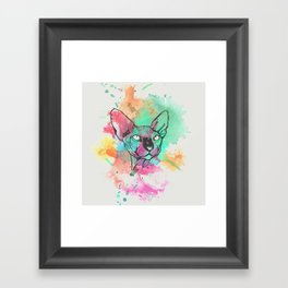 Watercolor Sphynx Framed Art Print