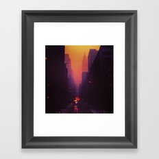 42nd Street, NYC - The Chrysler Building at Sunset Framed Art Print