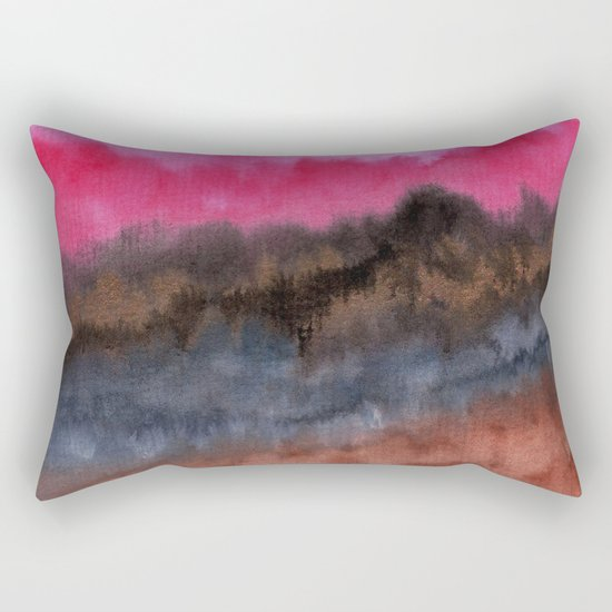 Watercolor abstract landscape 22 Rectangular Pillow