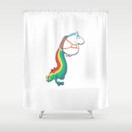 Jet Pack Unicorn Shower Curtain