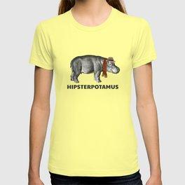 Funny Hippo Hipsterpotamus Vintage Animal Lovers Gift T-shirt