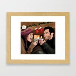 Merry Christmas - Sterek Framed Art Print