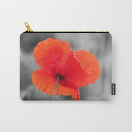 Poppy black and white photography with red splashes of color Carry-All Pouch