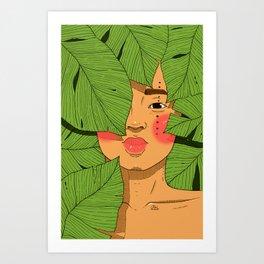 Tropical in Color Art Print