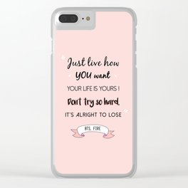 BTS Quote Clear iPhone Case