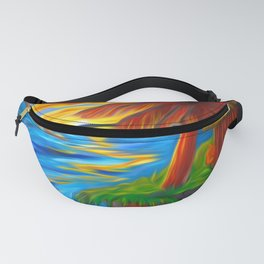 Palm Island Sunrise Fanny Pack