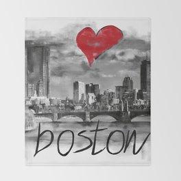 I love Boston Throw Blanket
