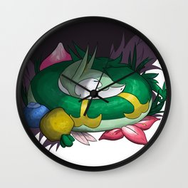 Serperior In The Grass Wall Clock
