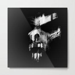Abstract Skull Face Metal Print
