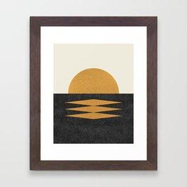 Sunset Geometric Framed Art Print