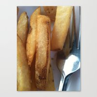 fries Canvas Prints featuring Fries by Wild World Of Food