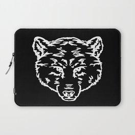 Outlines bear head, predators Laptop Sleeve